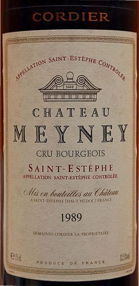 1989 er Chateau Meyney,Cru Bourgois AC St. Estèphe - Medoc (0,75 l)