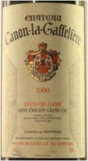 1990 er Chateau Canon la Gaffeliere, Grand Cru Classé AC St. Emillion (0,75 l)