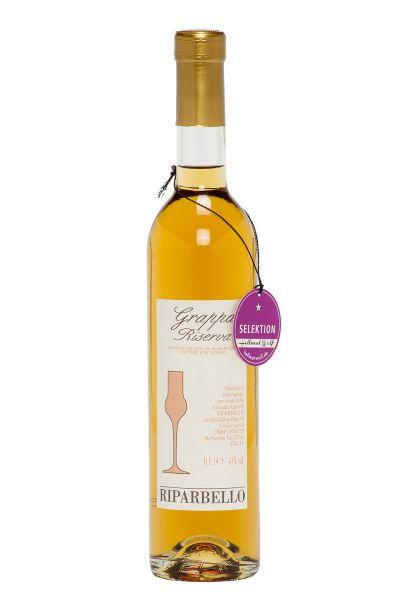 Riparbello Grappa Riserva - Invecchiata in Barrique 43% Vol. (0,5 l)+